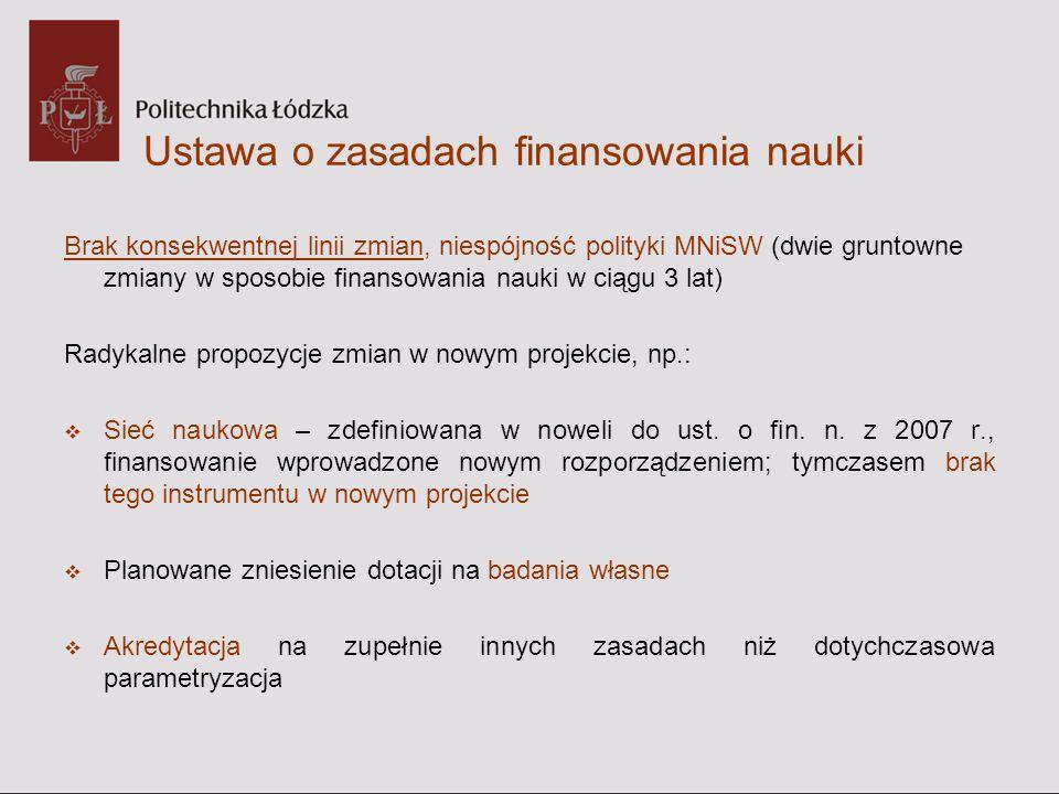 Ustawa o zasadach finansowania nauki Sieć naukowa Art.