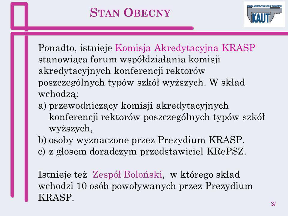 Komisja Akredytacyjna KRASP Przewodniczący: prof.dr hab.