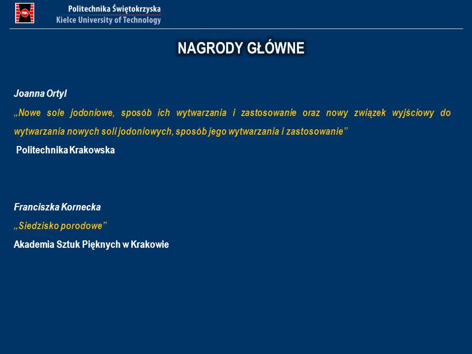 Joanna Ortyl Nowe sole jodoniowe, sposób ich wytwarzania i zastosowanie oraz nowy związek wyjściowy do wytwarzania nowych soli jodoniowych, sposób jeg