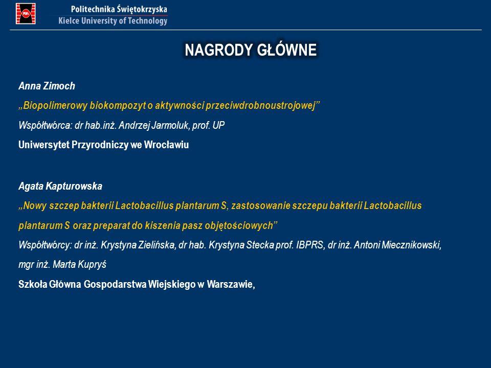 Anna Zimoch Biopolimerowy biokompozyt o aktywności przeciwdrobnoustrojowej Współtwórca: dr hab.inż. Andrzej Jarmoluk, prof. UP Uniwersytet Przyrodnicz