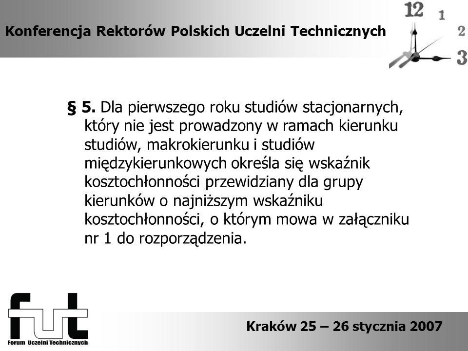 Konferencja Rektorów Polskich Uczelni Technicznych § 5.