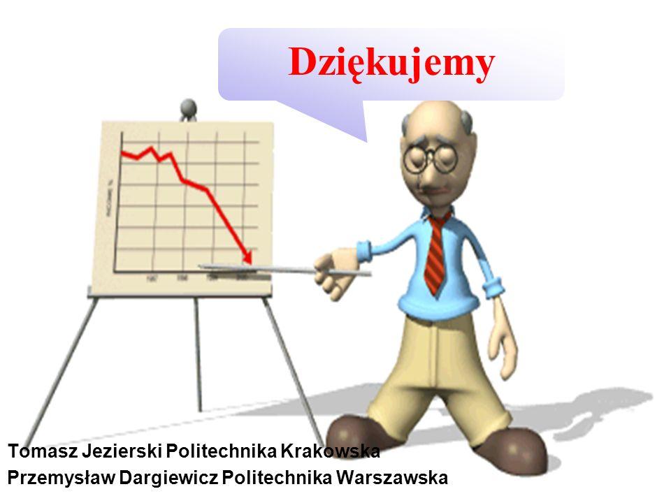 Dziękujemy Tomasz Jezierski Politechnika Krakowska Przemysław Dargiewicz Politechnika Warszawska