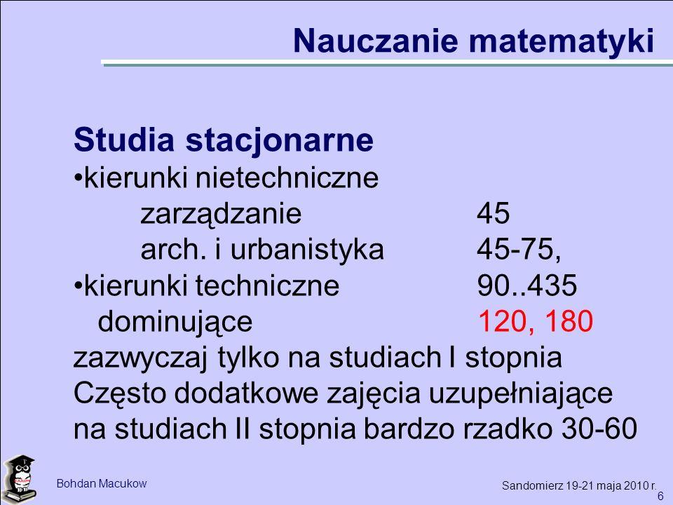 7 Bohdan Macukow Sandomierz 19-21 maja 2010 r.