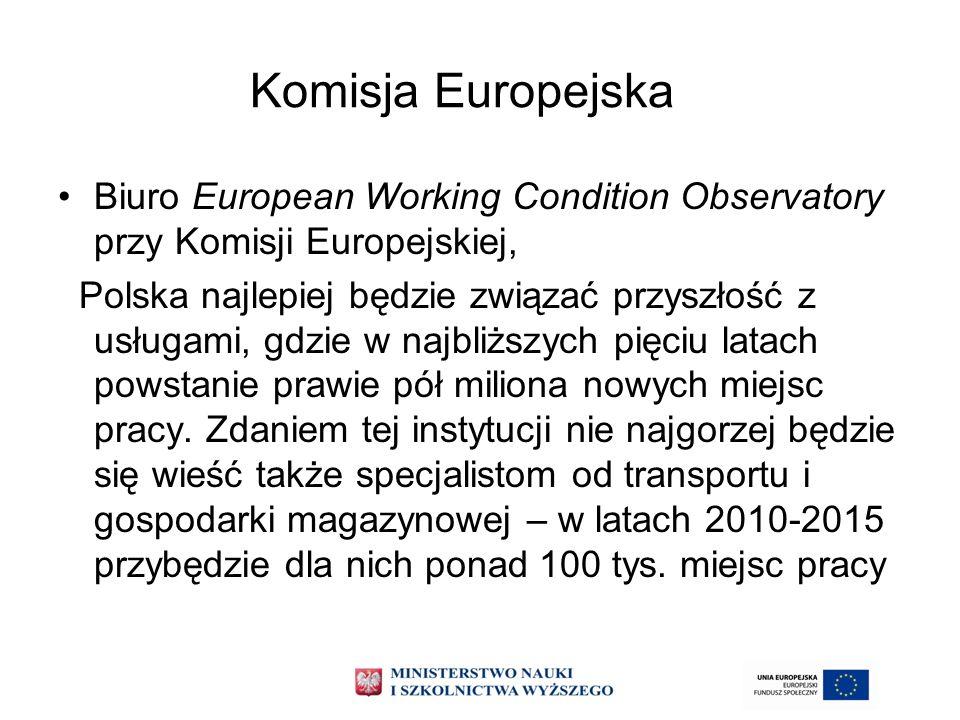 Komisja Europejska Biuro European Working Condition Observatory przy Komisji Europejskiej, Polska najlepiej będzie związać przyszłość z usługami, gdzi