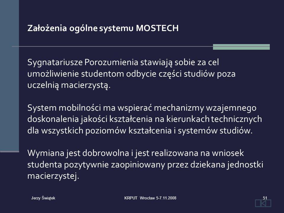 Założenia ogólne systemu MOSTECH Sygnatariusze Porozumienia stawiają sobie za cel umożliwienie studentom odbycie części studiów poza uczelnią macierzy