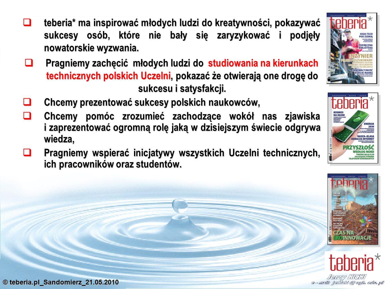 © teberia.pl_Sandomierz_21.05.2010 Dla osiągnięcia zakładanych celów proponujemy utworzenie kilkuosobowej Rady Doradczej złożonej z grona JM Rektorów i Wykonawczej złożonej z Rzeczników Prasowych Uczelni Rada Doradcza składa się z kilku osób dbających o prawidłowe reprezentowanie interesów Uczelni wchodzących w skład KRPUT.