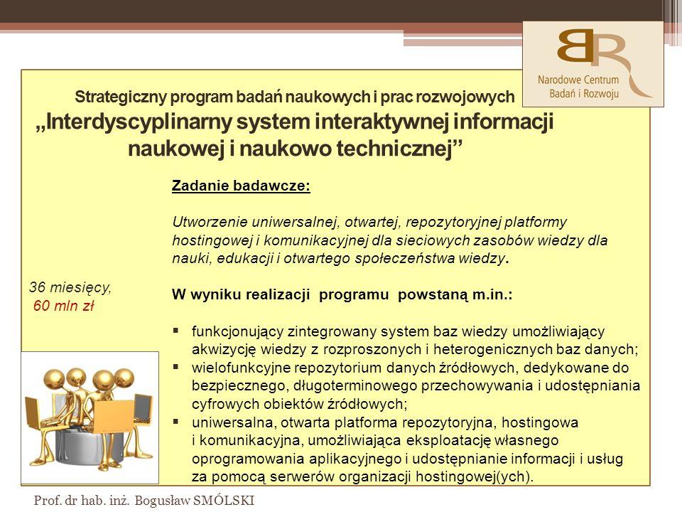 36 miesięcy, 60 mln zł Prof.dr hab. inż.