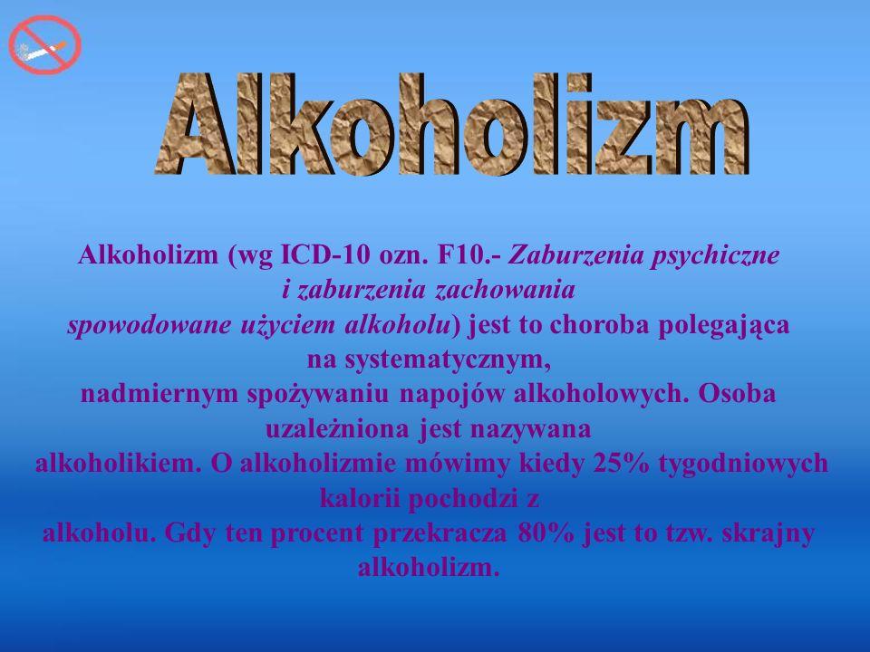 Alkoholizm (wg ICD-10 ozn.