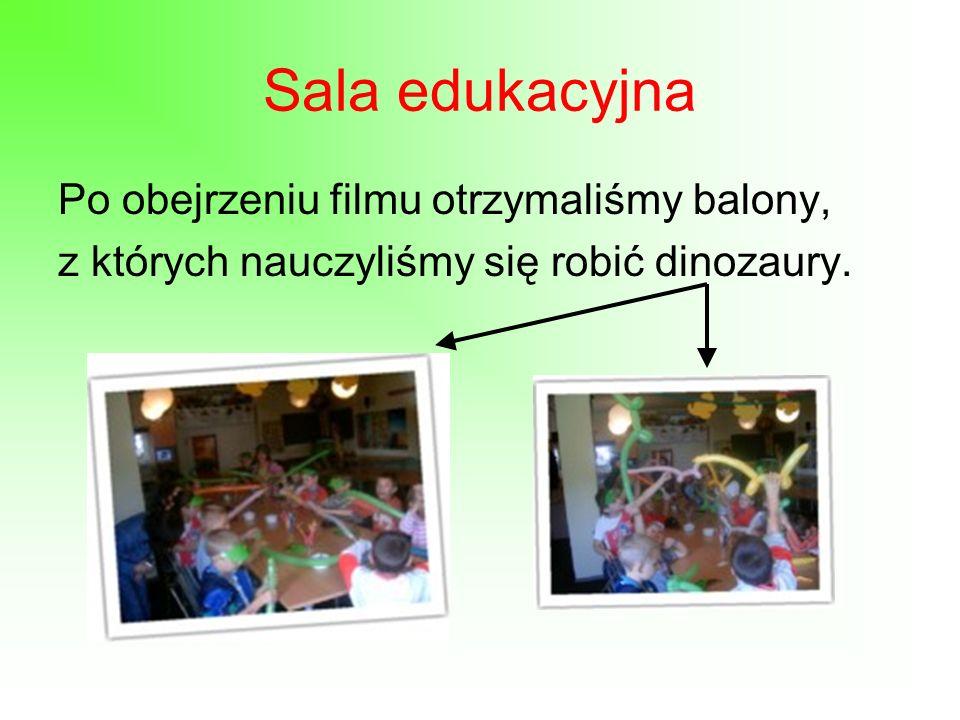 Dino Edukacja Otrzymaliśmy daszki, na których widniało logo DINOPARKU.