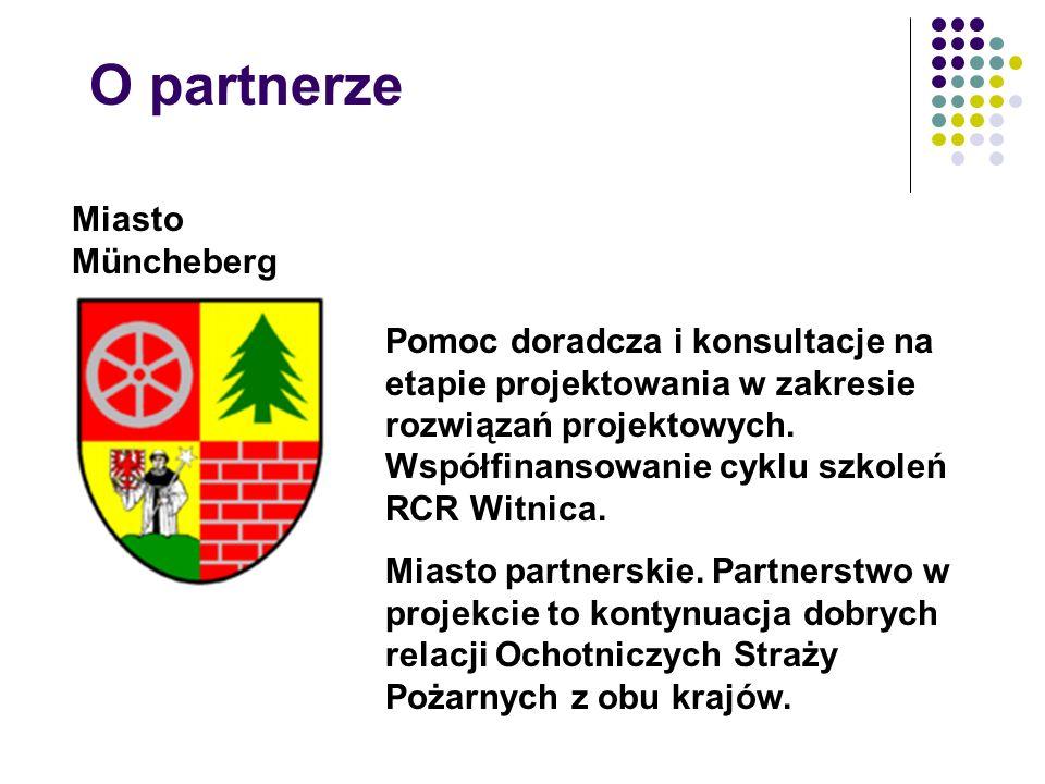 O partnerze Miasto Müncheberg Pomoc doradcza i konsultacje na etapie projektowania w zakresie rozwiązań projektowych.