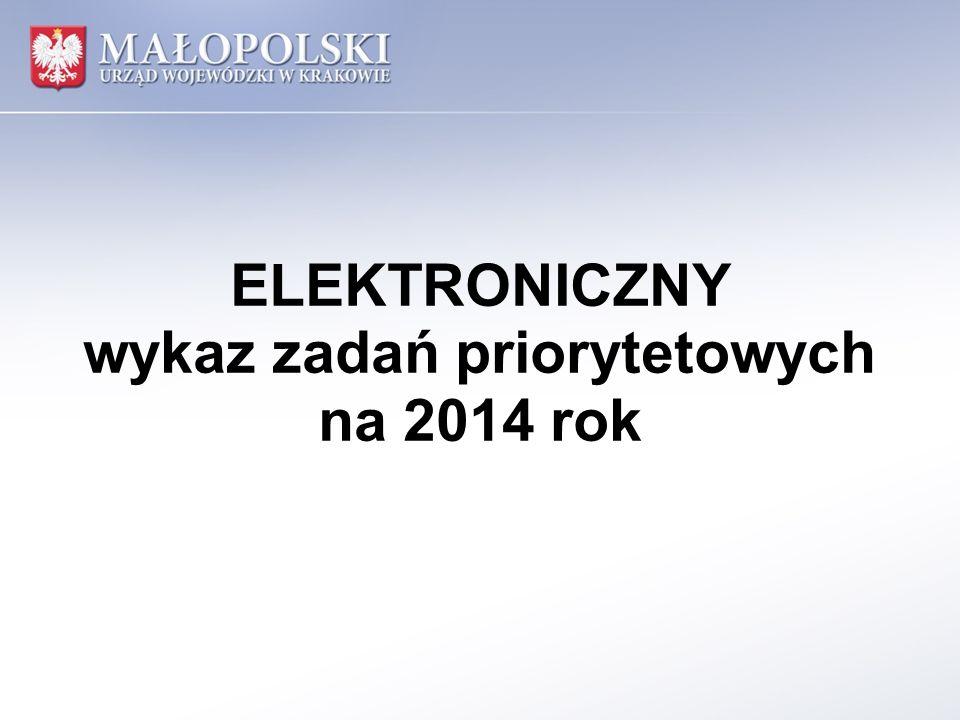 ELEKTRONICZNY wykaz zadań priorytetowych na 2014 rok