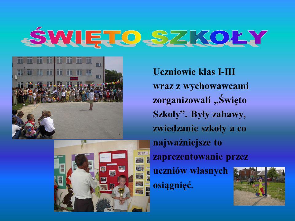 Uczniowie klas I-III wraz z wychowawcami zorganizowali Święto Szkoły. Były zabawy, zwiedzanie szkoły a co najważniejsze to zaprezentowanie przez uczni