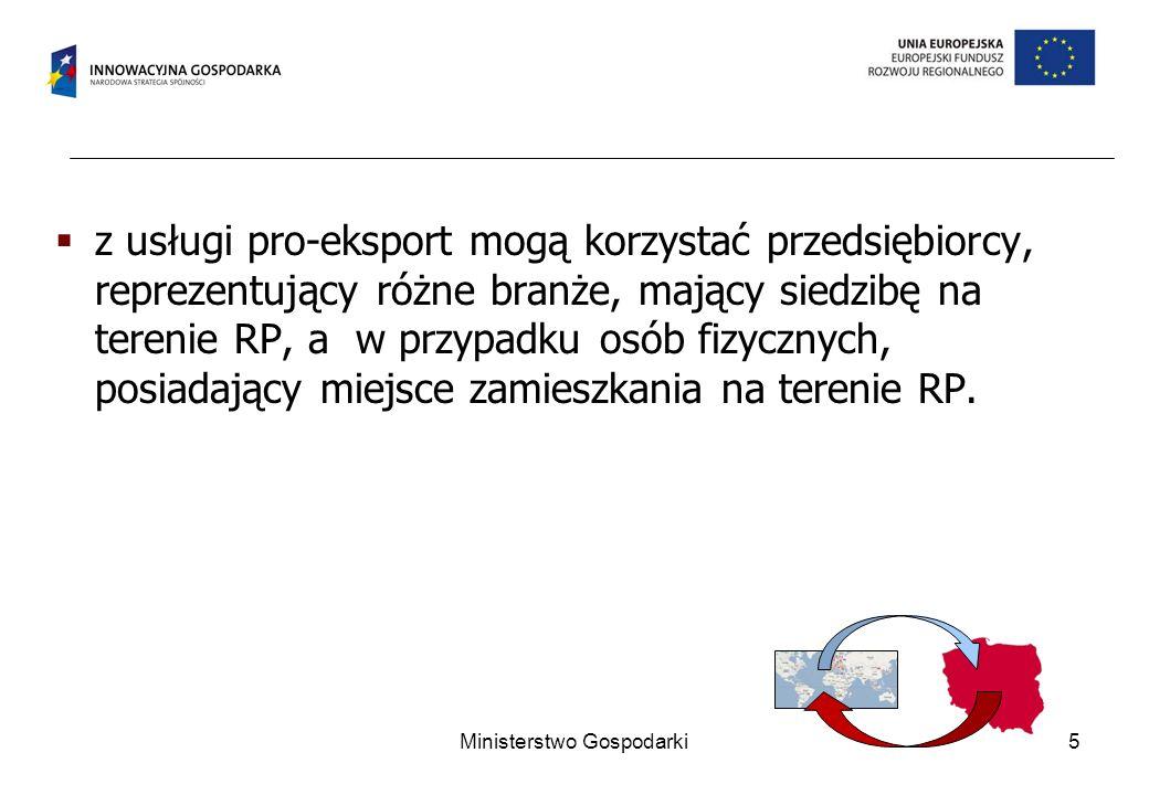 26 Umożliwia kształtowanie w regionie kadry w obszarze eksportu i polskich inwestycji za granicą.