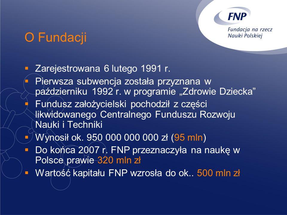 O Fundacji Zarejestrowana 6 lutego 1991 r.