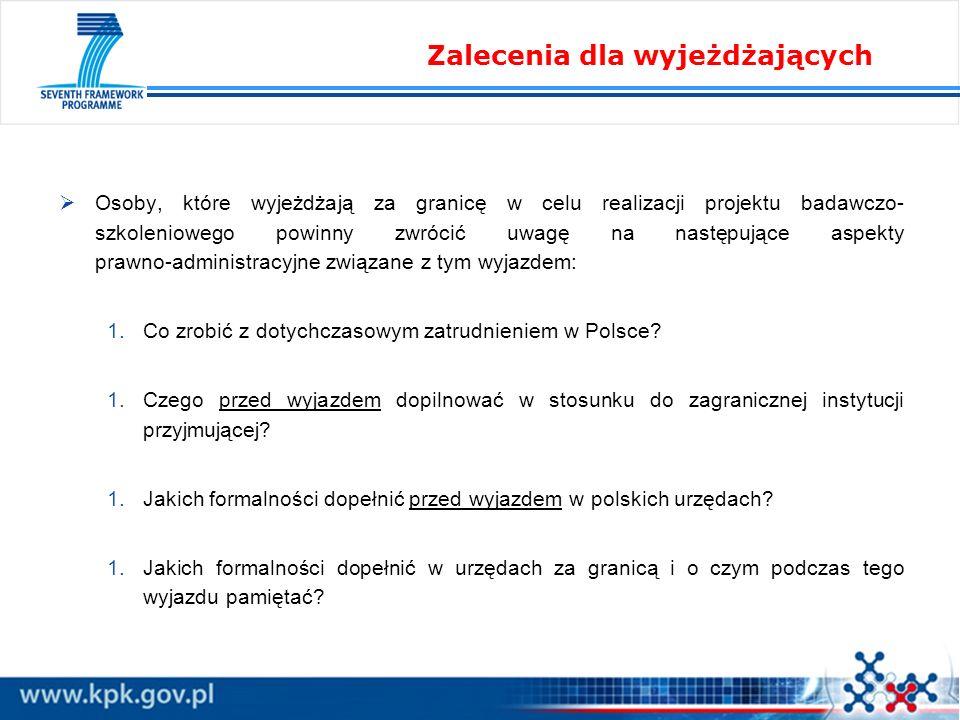 Już na etapie planowania udziału w projekcie należy: 1.zastanowić się nad najdogodniejszą formą wyjazdu (urlop bezpłatny, oddelegowanie, urlop szkoleniowy), 1.sprawdzić, czy pomysł dopuszczony jest przez zasady projektu, który będziemy wykonywać, 1.z odpowiednim wyprzedzeniem upewnić się, czy planowany sposób jest akceptowany przez polskiego pracodawcę, 1.z odpowiednim wyprzedzeniem upewnić się, czy instytucja przyjmująca zgodzi się na planowane rozwiązanie.