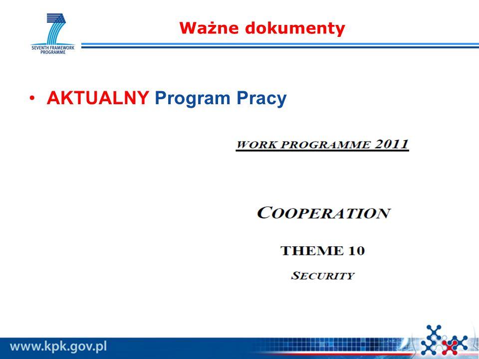 Ważne dokumenty AKTUALNY Program Pracy