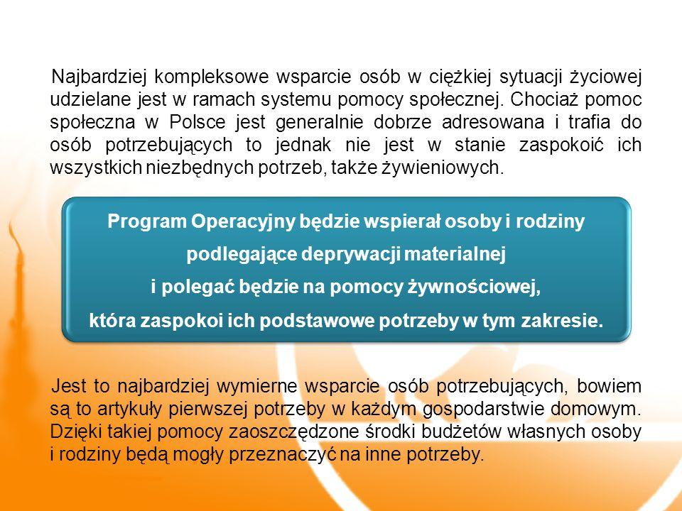 Najbardziej kompleksowe wsparcie osób w ciężkiej sytuacji życiowej udzielane jest w ramach systemu pomocy społecznej. Chociaż pomoc społeczna w Polsce