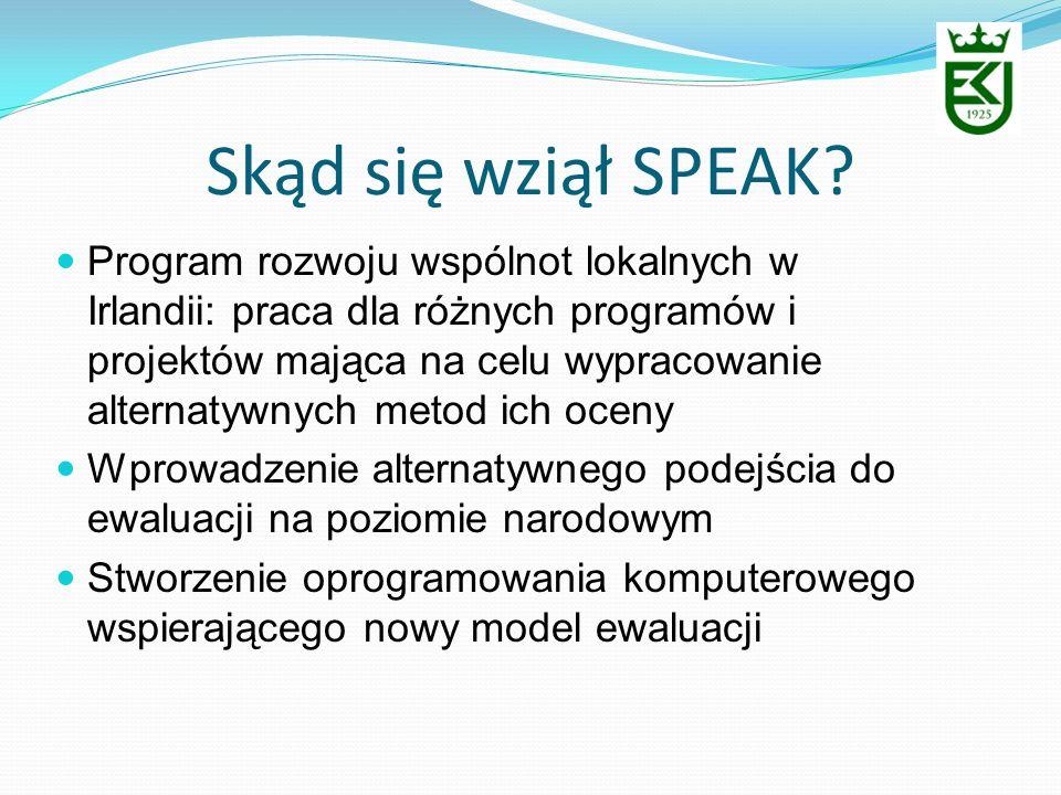 Skąd się wziął SPEAK? Program rozwoju wspólnot lokalnych w Irlandii: praca dla różnych programów i projektów mająca na celu wypracowanie alternatywnyc