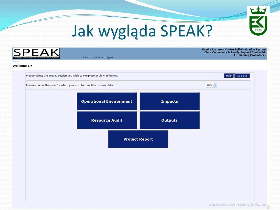 Jak wygląda SPEAK?