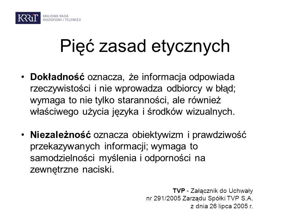 Klauzula sumienia w TVP Zgodnie z klauzulą sumienia dziennikarz ma prawo do odmowy wykonania poleceń sprzecznych z jego przekonaniami, obowiązującym prawem i zasadami etycznymi.