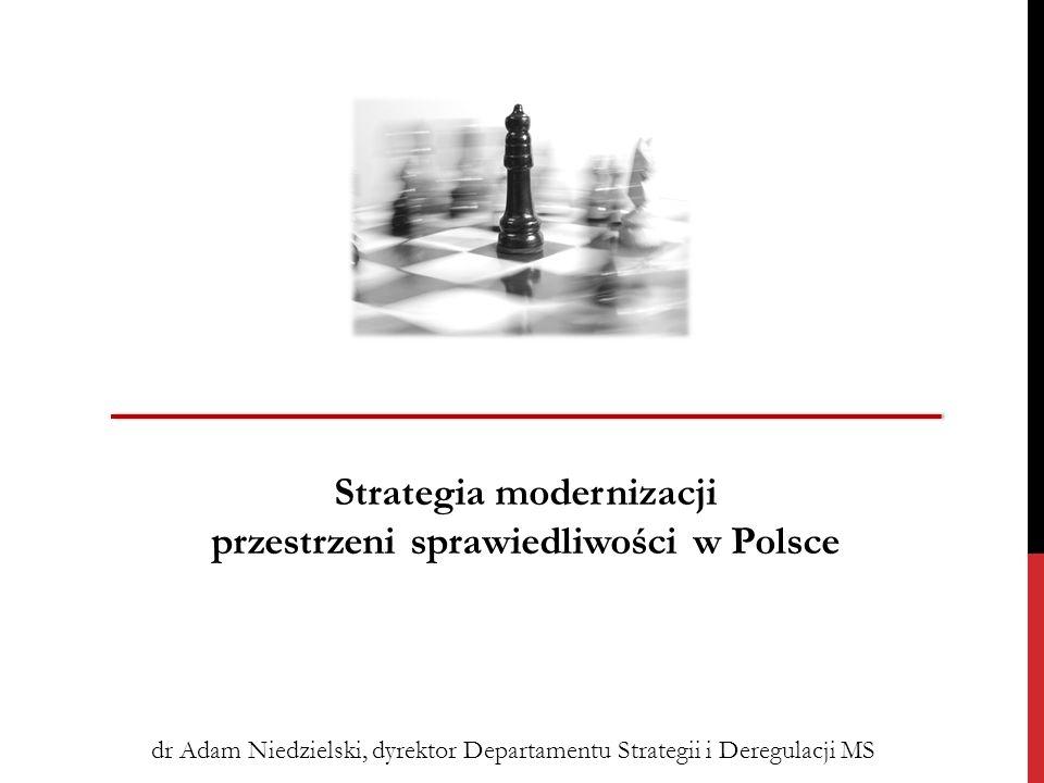 Strategia modernizacji przestrzeni sprawiedliwości w Polsce dr Adam Niedzielski, dyrektor Departamentu Strategii i Deregulacji MS
