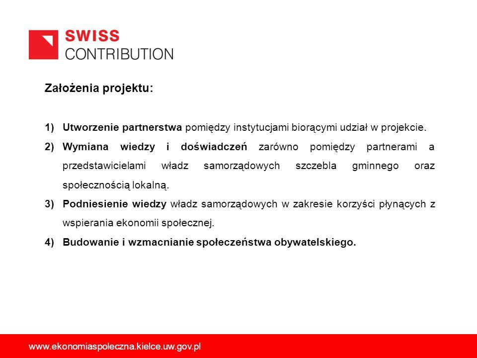 Założenia projektu: 1)Utworzenie partnerstwa pomiędzy instytucjami biorącymi udział w projekcie.