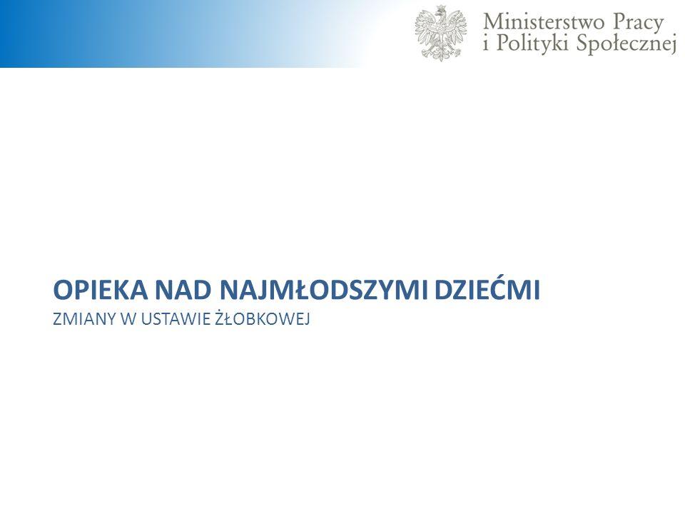 2005 r.371 żłobków 2010 r. 392 żłobki 2012 r.