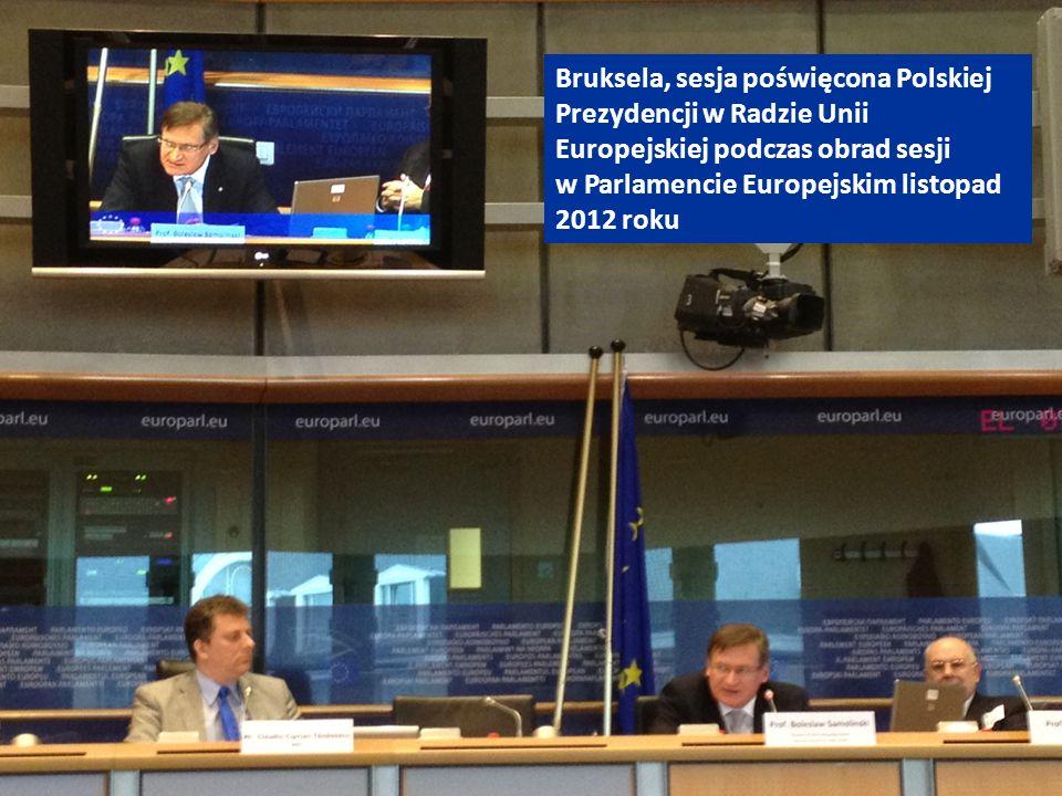 Bruksela, sesja poświęcona Polskiej Prezydencji w Radzie Unii Europejskiej podczas obrad sesji w Parlamencie Europejskim listopad 2012 roku