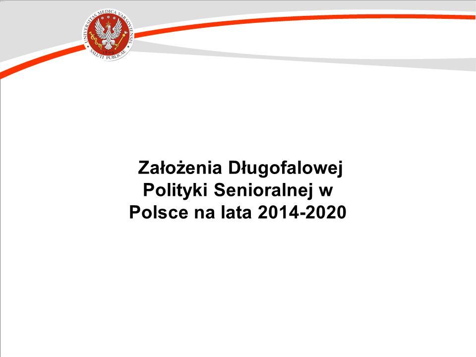 Założenia Długofalowej Polityki Senioralnej w Polsce na lata 2014-2020
