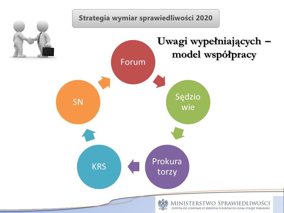 Uwagi wypełniających – model współpracy Forum Sędzio wie Prokura torzy KRSSN