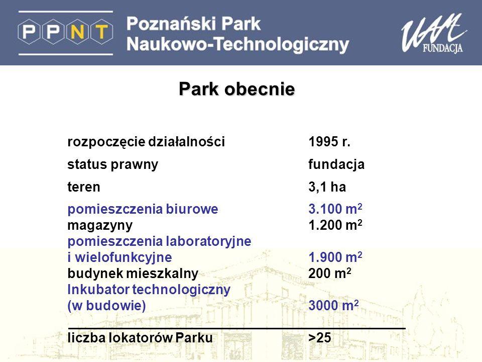 Park obecnie rozpoczęcie działalności1995 r.
