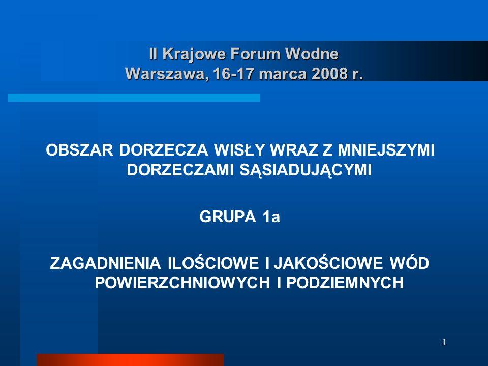 1 II Krajowe Forum Wodne Warszawa, 16-17 marca 2008 r.