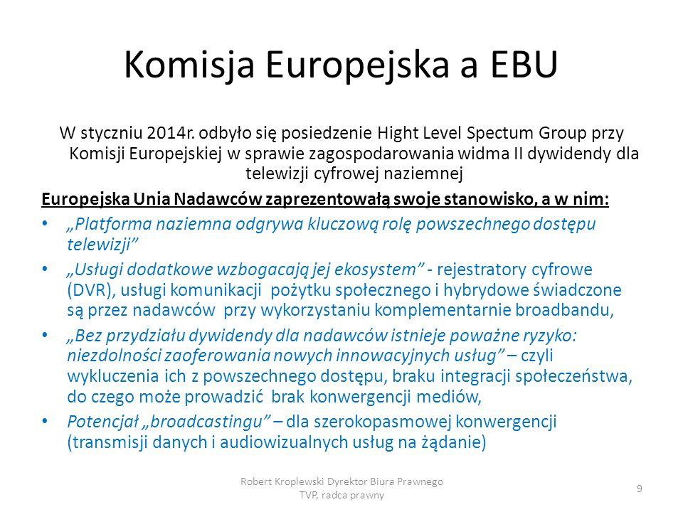 Komisja Europejska a EBU W styczniu 2014r.