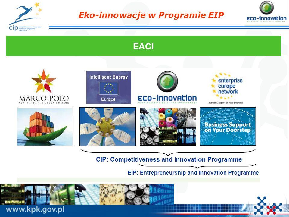 Eko-innowacje w Programie EIP Przykład projektu z sektora spożywczego: GREENBOTTLE Nowy rodzaj butelki na mleko wykonanej z mieszanki papieru i plastiku z recyclingu, która może być łatwo rozdzielona i sortowana; Uwzględnienie pełnego łańcucha dostaw Zamknięty obieg materiału: papier Utylizacja w pełni zgodna z wymogami w zakresie recyclingu w UE