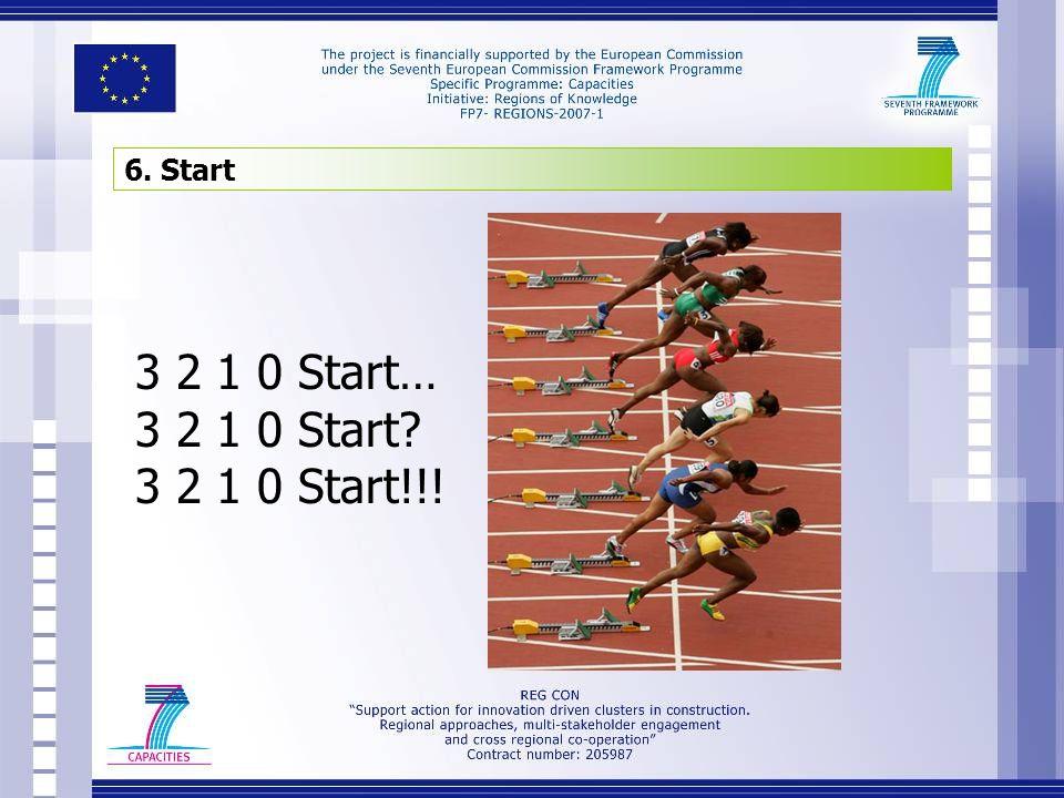 6. Start 3 2 1 0 Start… 3 2 1 0 Start? 3 2 1 0 Start!!!