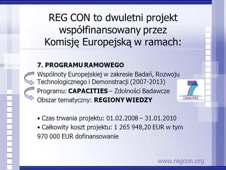 7. PROGRAMU RAMOWEGO Wspólnoty Europejskiej w zakresie Badań, Rozwoju Technologicznego i Demonstracji (2007-2013) Programu: CAPACITIES – Zdolności Bad