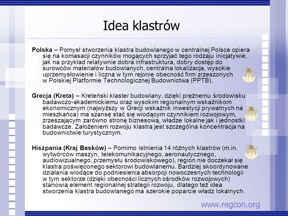 Idea klastrów Polska – Pomysł stworzenia klastra budowlanego w centralnej Polsce opiera się na komasacji czynników mogących sprzyjać tego rodzaju inic