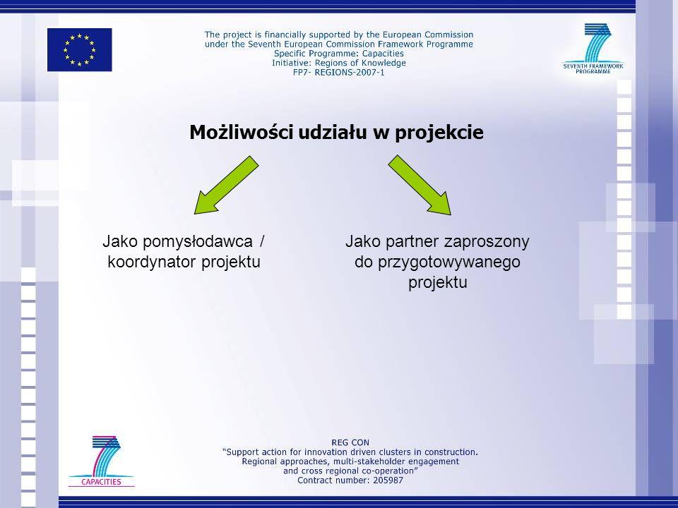 Koncepcja projektu P rojekt zakłada również: Rozpowszechnianie dobrych praktyk, głównie za pomocą studiów przypadku, Wyraźną koncentrację na innowacyjności, Mechanizm transferu dobrych praktyk (mentoring), Trwałość wypracowanych struktur i rozwiązań po zakończeniu projektu poprzez wykorzystanie innych źródeł finansowania i szans inwestycyjnych.