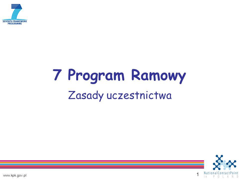 www.kpk.gov.pl 1 7 Program Ramowy Zasady uczestnictwa