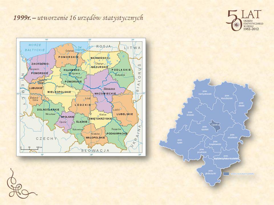 1999r. – utworzenie 16 urzędów statystycznych