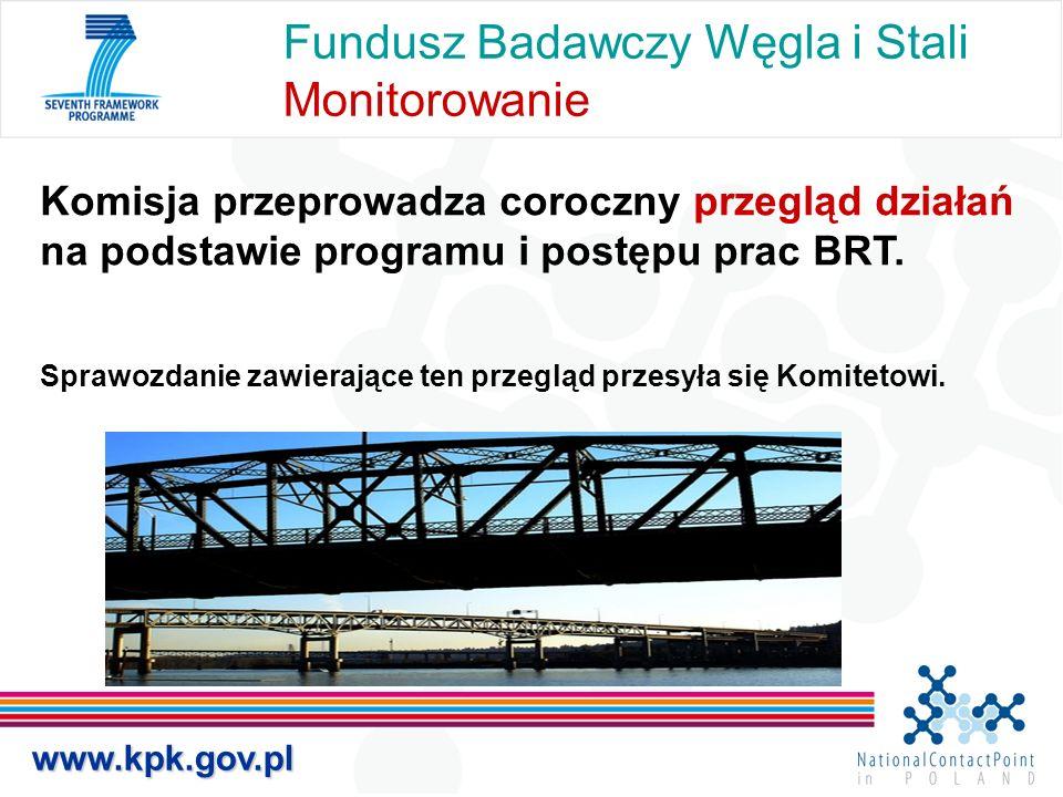 Fundusz Badawczy Węgla i Stali Monitorowanie Komisja przeprowadza coroczny przegląd działań na podstawie programu i postępu prac BRT. Sprawozdanie zaw