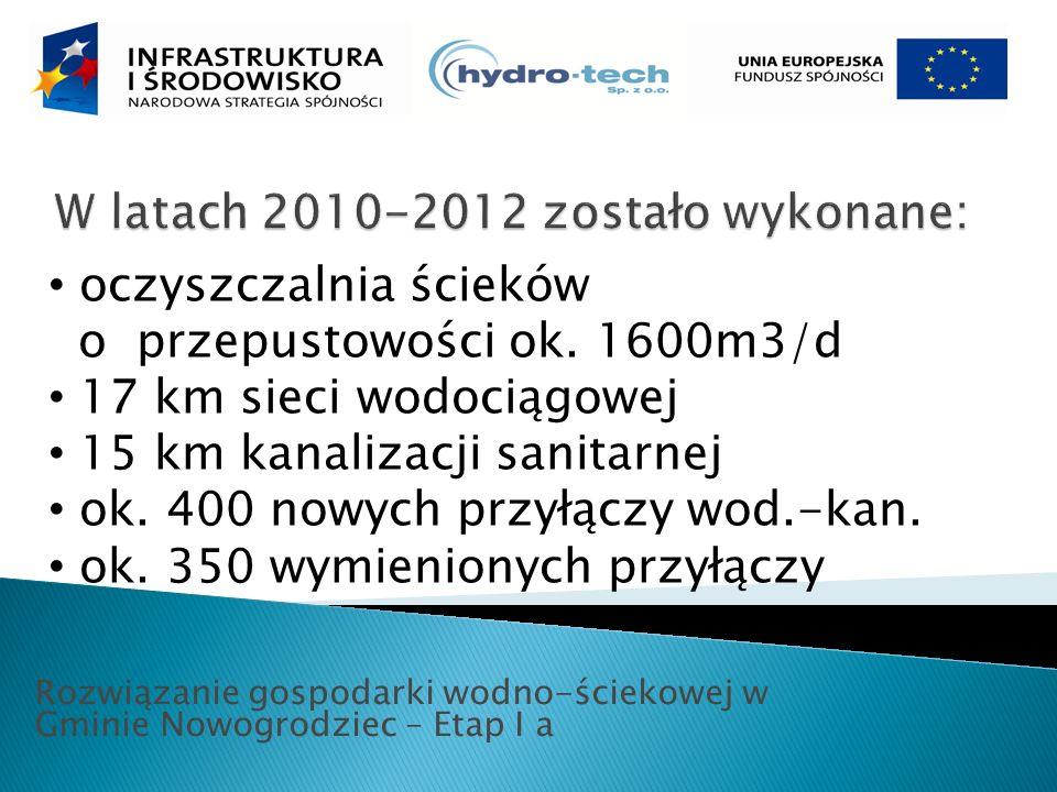 Rozwiązanie gospodarki wodno-ściekowej w Gminie Nowogrodziec – Etap I a oczyszczalnia ścieków o przepustowości ok.