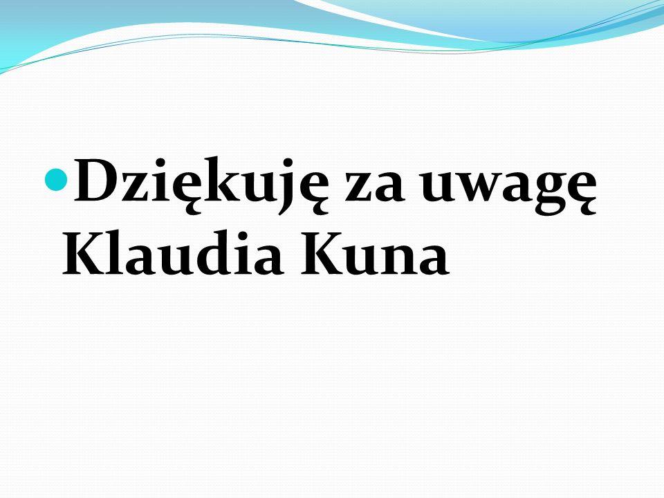 Dziękuję za uwagę Klaudia Kuna