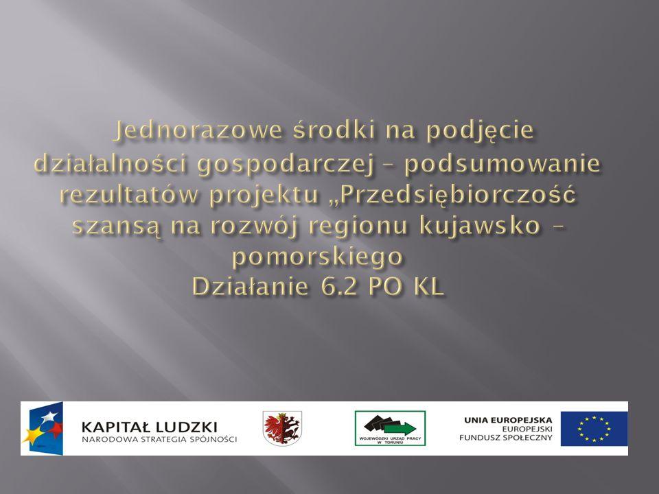 Powiatowy Urząd Pracy w Golubiu-Dobrzyniu w partnerstwie z Wojewódzkim Urzędem Pracy w Toruniu oraz pozostałymi urzędami pracy z województwa kujawsko-pomorskiego uczestniczy w realizacji projektu: Przedsiębiorczość szansą na rozwój regionu kujawsko- pomorskiego Priorytet VI Działanie 6.2 PO KL.