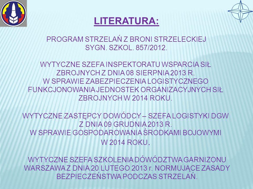 LITERATURA: PROGRAM STRZELAŃ Z BRONI STRZELECKIEJ SYGN.