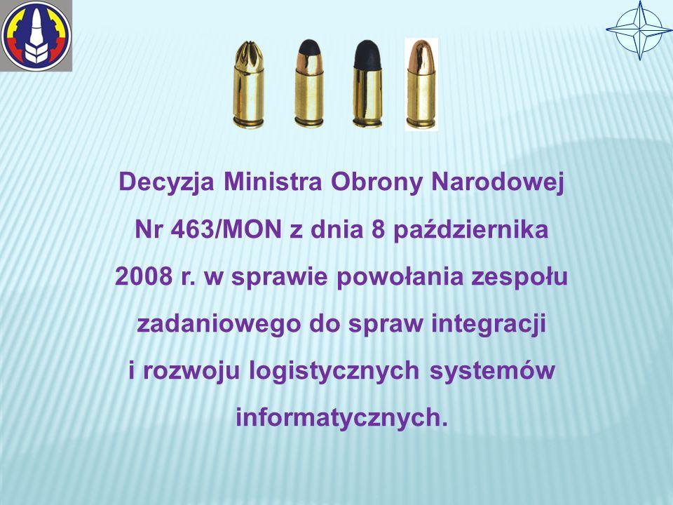 Decyzja Ministra Obrony Narodowej Nr 463/MON z dnia 8 października 2008 r.