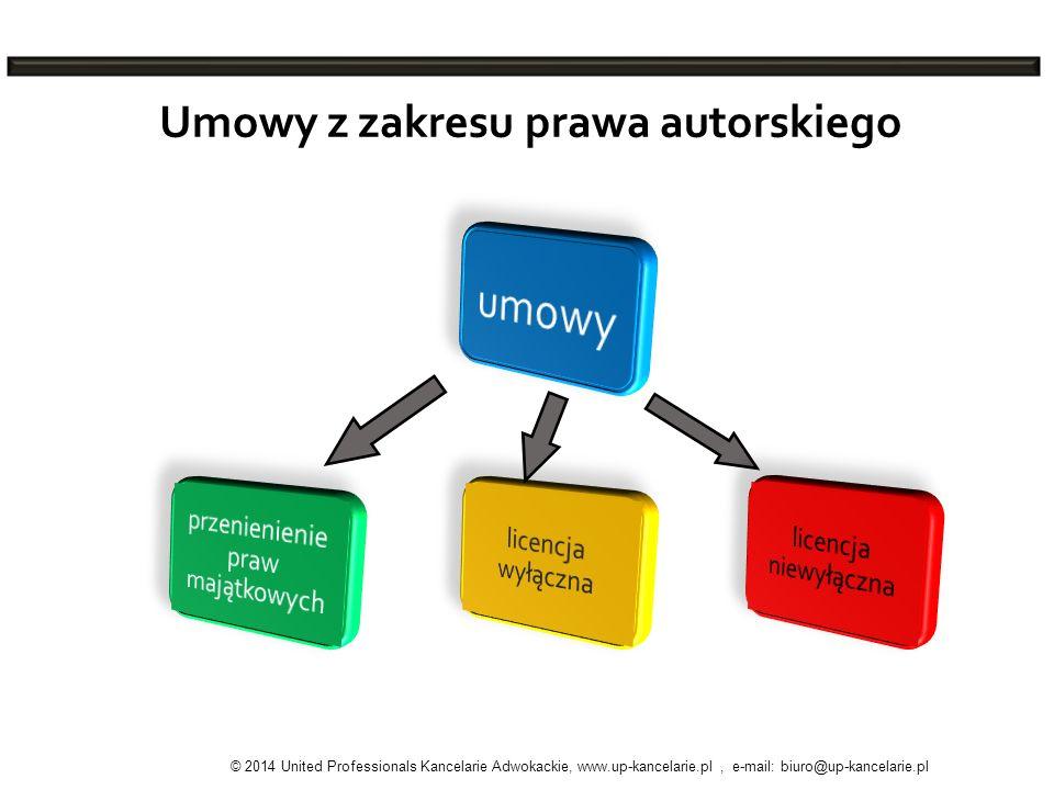 Umowy z zakresu prawa autorskiego © 2014 United Professionals Kancelarie Adwokackie, www.up-kancelarie.pl, e-mail: biuro@up-kancelarie.pl