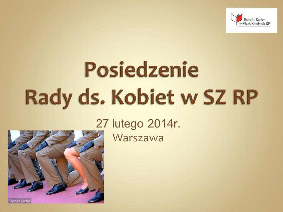 1.Otwarcie spotkania 2. Realizacja zadań Rady w 2013r.
