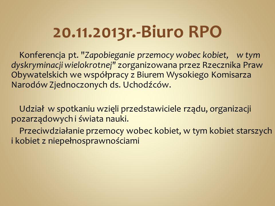 20.11.2013r.-Biuro RPO Konferencja pt.