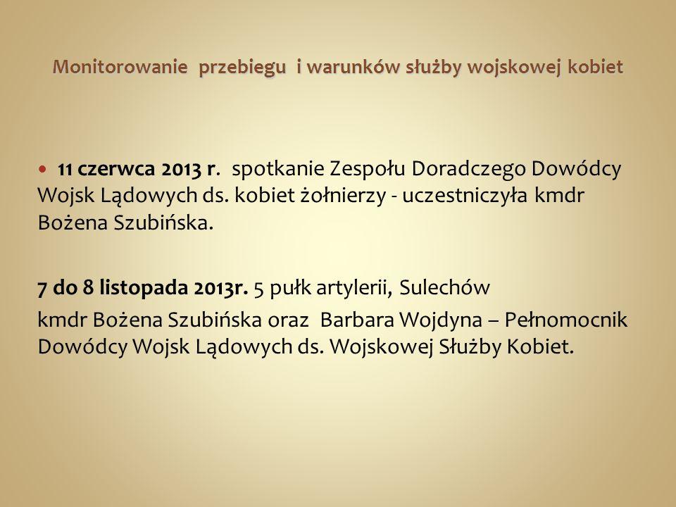 Promocja służby kobiet 15 czerwca 2013r.- w 1.